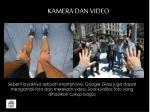 kamera dan video