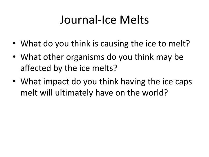 journal ice melts n.