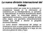 la nueva divisi n internacional del trabajo