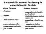 la oposici n entre el fordismo y la especializaci n flexible