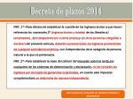 decreto de plazos 2014