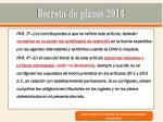 decreto de plazos 20141