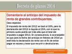 decreto de plazos 201410
