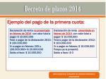decreto de plazos 201411