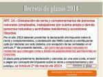 decreto de plazos 201412