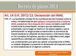 decreto de plazos 201414