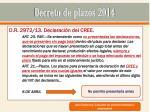 decreto de plazos 201415