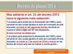 decreto de plazos 201416