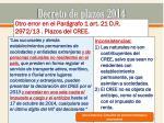 decreto de plazos 201417