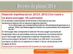 decreto de plazos 201418