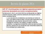 decreto de plazos 20142