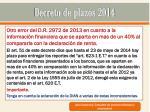 decreto de plazos 201421