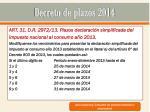 decreto de plazos 201422