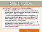 decreto de plazos 201423