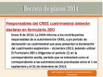 decreto de plazos 201424