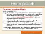 decreto de plazos 201425