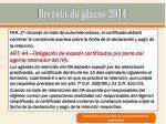 decreto de plazos 201426