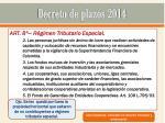 decreto de plazos 20143