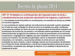 decreto de plazos 20144