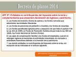 decreto de plazos 20145