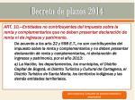 decreto de plazos 20146