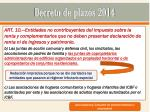 decreto de plazos 20147