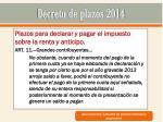 decreto de plazos 20148