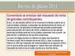 decreto de plazos 20149