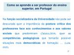 como se aprende a ser professor do ensino superior em portugal1