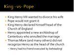 king vs pope