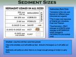 sediment sizes
