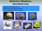specific mineral information