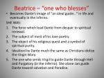 beatrice one who blesses