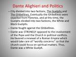 dante alighieri and politics
