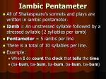 iambic pentameter