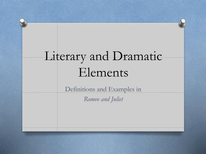 literary and dramatic elements n.