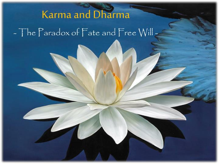 karma and dharma the paradox of fate and free will n.