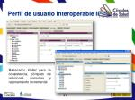 perfil de usuario interoperable ii