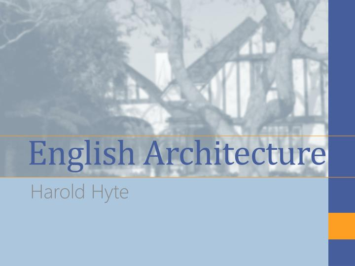 english architecture n.