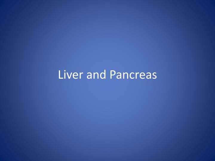 liver and pancreas n.