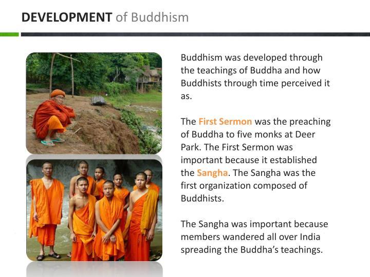 Development of buddhism