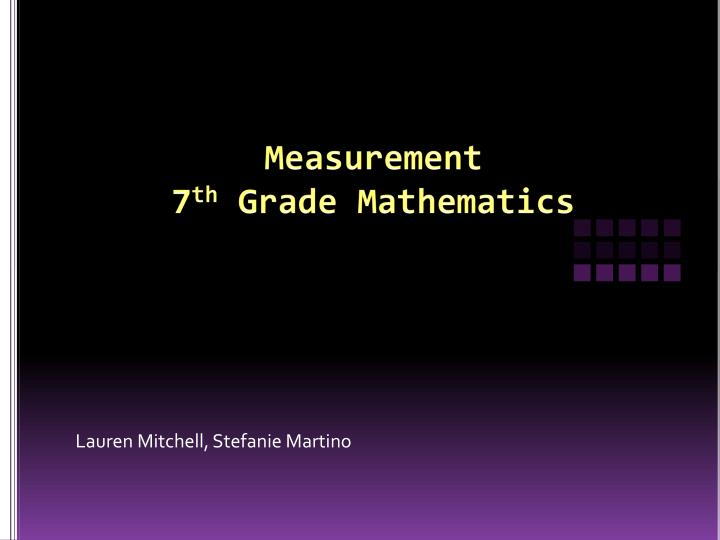 measurement 7 th grade mathematics n.