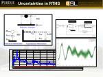uncertainties in rths