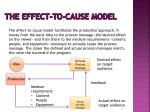 the effect to cause model
