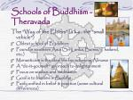 schools of buddhism theravada