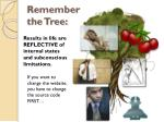 remember the tree