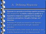 a defining hypnosis