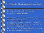 b hilgard s neodissociation approach