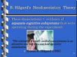 b hilgard s neodissociation theory
