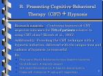 b presenting cognitive behavioral therapy cbt hypnosis